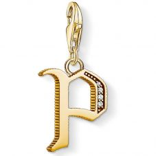 Thomas Sabo Gold Plated Cubic Zirconia P Charm 1622-414-39