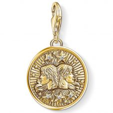 Thomas Sabo Gold Plated Cubic Zirconia Gemini Charm 1654-414-39