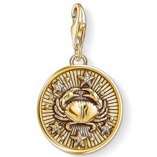 Thomas Sabo Gold Plated Cubic Zirconia Cancer Charm 1655-414-39
