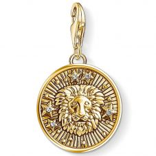 Thomas Sabo Gold Plated Cubic Zirconia Leo Charm 1656-414-39