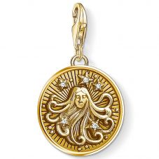 Thomas Sabo Gold Plated Cubic Zirconia Virgo Charm 1657-414-39