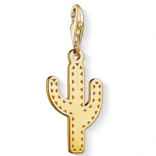 THOMAS SABO Gold Plated Open Work Cactus Charm 1680-413-39