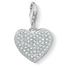Thomas Sabo Sterling Silver Pavé Heart Charm 1570-051-14