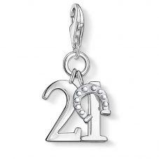 THOMAS SABO Silver Lucky 21 Charm 0460-001-12