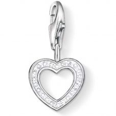 THOMAS SABO Clear Cubic Zirconia Open Heart Charm 0930-051-14