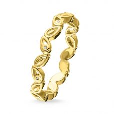 THOMAS SABO Gold Plated Diamond Leaves Ring D_TR0024-924-39