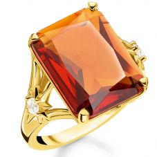 THOMAS SABO Gold Plated Magic Stones Orange Star Cocktail Ring TR2261-971-8
