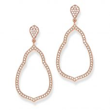 Thomas Sabo Rose Gold Plated Cubic Zirconia Open Dropper Earrings H1900-416-14