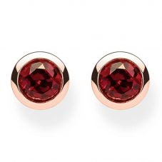 Thomas Sabo Rose Gold Tone Red Stud Earrings H1962-540-10