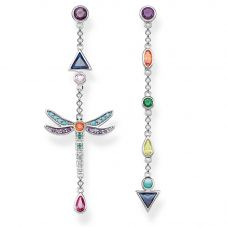 THOMAS SABO Sterling Silver Multistone Dragonfly Dropper Earrings H2033-313-7