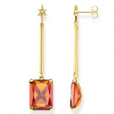 THOMAS SABO Gold Orange Magic Stones Star Drop Earrings H2071-971-8