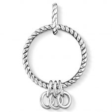 THOMAS SABO Silver Oxidised Triple Charm Carrier X0246-637-21