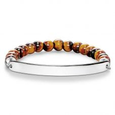 THOMAS SABO Silver Plain Tigers Eye Bracelet LBA0014-045-2