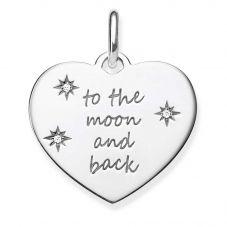 Thomas Sabo Silver Engraved Heart Pendant LBPE0020-051-21