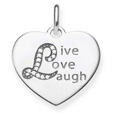 Thomas Sabo Silver Live Love Laugh Pendant LBPE0021-051-21