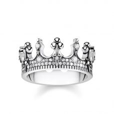 Thomas Sabo Cubic Zirconia Crown Ring TR2224-643-14