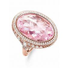 Thomas Sabo Silver Large Oval Pink Cubic Zirconia Ring TR2023-633-9-54