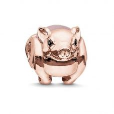 THOMAS SABO Karma Rose Gold Plated Piglet Bead K0197-417-9