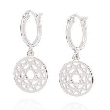 Daisy London Chakra Heart Dropper Earrings ECHK1004