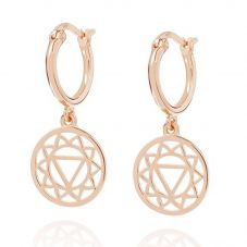 Daisy London Chakra Rose Gold Plated Solar Plex Dropper Earrings ECHK3003