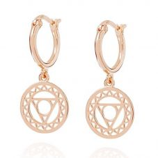 Daisy London Chakra Rose Gold Plated Throat Dropper Earrings ECHK3005