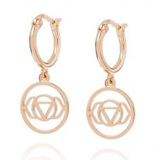 Daisy London Chakra Rose Gold Plated Brow Dropper Earrings ECHK3006