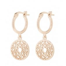 Daisy London Chakra Rose Gold Plated Crown Dropper Earrings ECHK3007