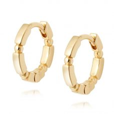 Daisy London Stacked Gold Plated Huggie Hoop Earrings EB8008_GP