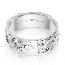 Daisy London Isla Sterling Silver Fossil Band SSR02_SLV