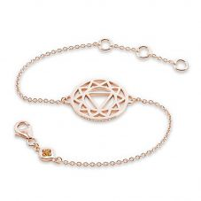 Daisy London Rose Gold Plated Solar Plexus Chakra Bracelet CHKBR1017