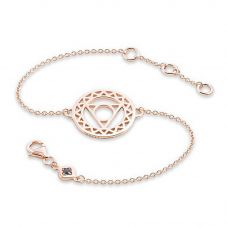 Daisy London Rose Gold Plated Throat Chakra Chain Bracelet CHKBR1019