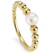 Jersey Pearl Coast Gold Plated Pebble Pearl Ring COAR-YG