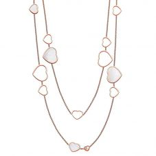 Chopard Happy Hearts 18ct Rose Gold Mother Of Pearl Necklace 817482-5301