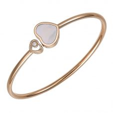 Chopard Happy Hearts 18ct Rose Gold Mother Of Pearl Bangle 857482-5303 (M)