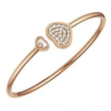 Chopard Happy Hearts 18ct Rose Gold Diamond Bangle 857482-5910 (M)