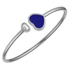 Chopard Happy Hearts 18ct White Gold Blue Bangle 857482-1503 (M)