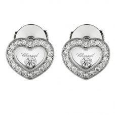 Chopard Happy Diamonds 18ct White Gold Heart Earrings 83A054-1201