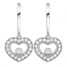 Chopard Happy Diamonds 18ct White Gold Heart Earrings 83A054-1401