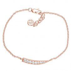 Sif Jakobs Ladies Rose Gold-Plated 'Pila' Graduated White Cubic Zirconia Bracelet SJ-B1010-CZ(RG)