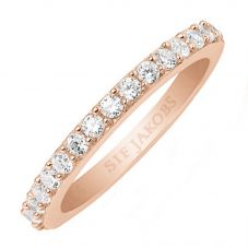 Sif Jakobs Ladies Rose Gold-Plated 'Corte Uno' White Cubic Zirconia Eternity Ring SJ-R10811-CZ(RG)
