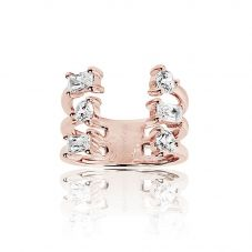 Sif Jakobs Rose Gold Plated Antella Altro Grande Ring SJ-R012-CZ(RG)/58