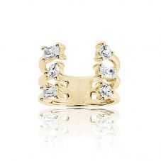 Sif Jakobs Gold Plated Antella Altro Grande Ring SJ-R012-CZ(YG)/58