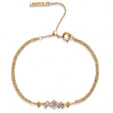 Olivia Burton Rainbow Bee Gold Plated Chain Bracelet OBJAMB80