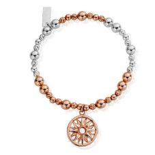 ChloBo Inner Spirit Two Tone Sun Mandala Bracelet MBSBS577
