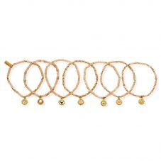 ChloBo Cherabella Gold Plated Moonstone Set of Seven Bracelets GBSTA7C