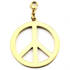 ChloBo Iconic Large Gold Plated Peace Pendant Charm