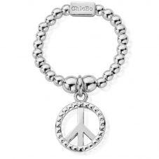 ChloBo Silver Mini Peace Ring SRM1124