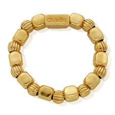 ChloBo Gold Plated Chunky Feature Ring Medium Size GRCHUPU2