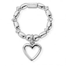 ChloBo Mini Rice Open Heart Ring SRMR1007