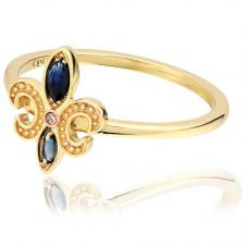 Clogau 9ct Gold Bohemia Ring FDLR5 N